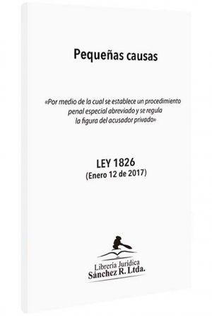 pequeñas-causas-ley-1826-libros-jurídicos-lijursanchez-juridica-sanchez