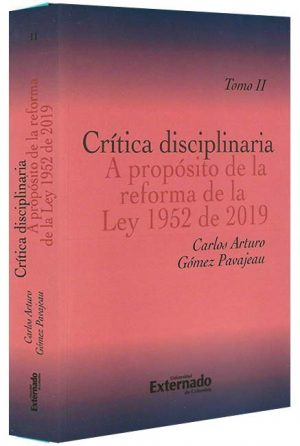 Critica-disciplinaria-tomo II -libros-jurídicos-lijursanchez-juridica-sanchez